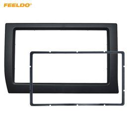 Wholesale FEELDO Car 2Din Panel Fascia Frame For Citroen Elysee 2006 Stereo Radio Dash Fitting Kit Installation Bezel Plate Face Frame Kit #2231