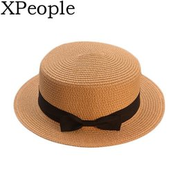 $enCountryForm.capitalKeyWord NZ - XPeople Parent-child sun hat Kids hat glris summer cap Straw Women Summer Wide Brim Floppy Fedora Beach Cap UPF 50+