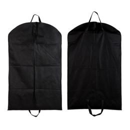 4753c6cec954 1pc Black Dustproof Hanger Cover Storage Bags Coat Clothes Garment Suit  Dust Cover Dust Bags Storage Protector Organization