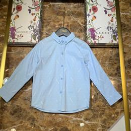 $enCountryForm.capitalKeyWord Australia - Kids designer clothing kids shirt lapel shirt long sleeved shirt arc pendulum single button cuff pure cotton clean style