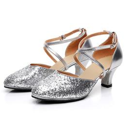 a27c16504 2019 Women's Rumba Waltz Prom Ballroom Latin Salsa Dance Shoes Square Dance  Shoes Designer Classics Ladies Bling Plus Size