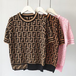 Wholesale casual knit clothing for women for sale - Group buy Designer Women T shirts Casual Harajuku Love knitting Letter Printed Tops Tee Summer Female T shirt Short Sleeve T shir For Women Clothing