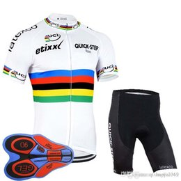 Discount cycling team jersey quick step - 2018 QUICK STEP team Cycling Short Sleeve jersey summer Quick Dry high quality Mountain Bike 9D Gel Pad shorts set F2293