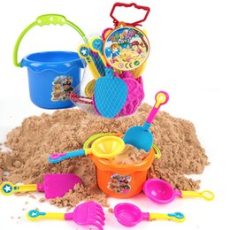 seaside toys Australia - 9Pcs Castle Bucket Spade Shovel Rake Tools Set For Kids Toys Seaside Games Kids Sand Beach Toys