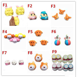 garfield toys UK - 2017 Hot style Garfield Elephants dog Squishy Toy Slow Rising Soft Squeeze Cute Cell Phone Strap gift Stress for children Decompression toys