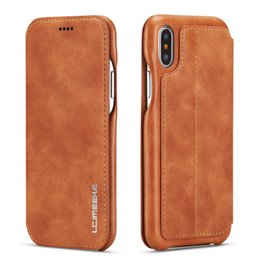 $enCountryForm.capitalKeyWord UK - Flip Case For iPhone X XS XR XS Max Case Leather Luxury Wallet Business Vintage Book Design Cover Case For iPhone 6 6s 7 8 Plus