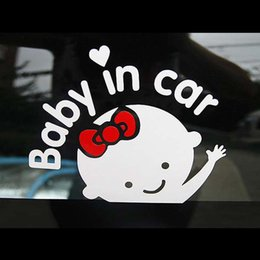 """$enCountryForm.capitalKeyWord Australia - """"Baby In Car"""" Car Style Waving Baby on Board Auto Safety Sign Car Decals Stickers PVC reflective material"""