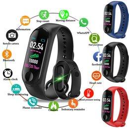 Ingrosso Il cardiofrequenzimetro intelligente dell'inseguitore di frequenza cardiaca dell'inseguitore di frequenza cardiaca dell'inseguitore di M3 Smart Tracker chiama il braccialetto astuto di salute