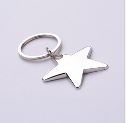 star shaped gifts NZ - Novelty Zinc Alloy Star Shaped Keychains Metal Star Keyrings for Gifts