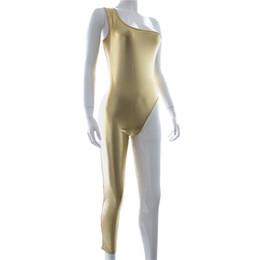 $enCountryForm.capitalKeyWord UK - Bondage female appliances flirting sexy underwear jumpsuits Single pants legs bright leather binding adult supplies clothing Stage