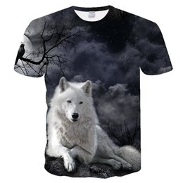 $enCountryForm.capitalKeyWord Australia - 3D men's T-shirt street T-shirt casual style 3D star white wolf cool fashion Harajuku Punk style unisex high help direct