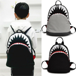 $enCountryForm.capitalKeyWord Australia - Cool Animal Shark Backpack for Kids Boys Travel Hiking Backpack Book Bag Gift
