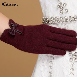 $enCountryForm.capitalKeyWord Australia - Gours Winter Women Wool Cashmere Gloves Fall 2018 New Fashion Brand Mittens Black Warm Driving Gloves 3-Style 4-Color GSL059