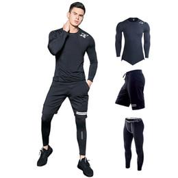 $enCountryForm.capitalKeyWord UK - Sport Suit For Men's Gym Training Workout Clothes Shark Print Running Compression Set Mma Rashgard Male Kit Sportwear 2019 SH190717