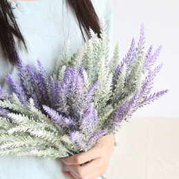 Plants Decorative NZ - 5 branches bouquet Romantic decoration lavender flower silk artificial flowers grain decorative Simulation of aquatic plants MW53462