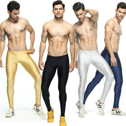 men workout leggings 2021 - Men's Solid Color Running Tights Elastic Skinny Workout Leggings Basketball Mens Compression Tights Men Sweatpant l