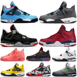 Wholesale 2019 Jumpman New Bred Cool Grey s Travis Scott x Cactus Jack IV NEON Purple Raptors FIBA Mens Shoes Womens Sneakers