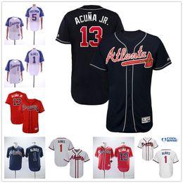 96ed6c79 Atlanta Braves maillot Atlanta Ozzie Albies 5 Freddie Freeman 13 Ronald  Acuna Jr. Maillots Jr. 2019 Nouveau grand rabais de vente