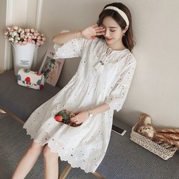 Maternity Suits Australia - 9189 2018 New Spring Maternity Lace Dress Suit (send Sling) Y19052003