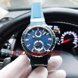 steel reserve Australia - Classic Mens Designer Watches Diver 300M Mechanical Automatic Watch Auto Date Blue Dial Rubber Strap Power Reserve 42.7MM Steel Wristwatches