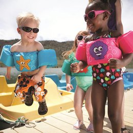 Baby Swim Jacket Australia - Children Swimming Aids Kids Baby Float Arm Swimming Cartoon Float Life Jackets Safety Vest Arm Ring Pool Accessories