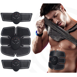 electric weight loss belt 2019 - Unisex Wireless Muscle Stimulator Trainer Smart Fitness Abdominal Training Electric Weight Loss Stickers Body Slimming B