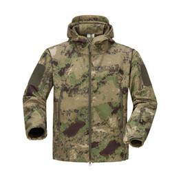 $enCountryForm.capitalKeyWord Australia - Waterproof Shark Skin Army Tactical Jacket Men Camouflage Jacket Softshell Windbreaker Winter Warm Hooded Hunt Coat