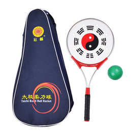 1 Piece Tai Chi Taiji Soft Ball Aluminum Tenis Racket Light Weight For Perform Aged Fitness GYM the Eight Diagrams on Sale