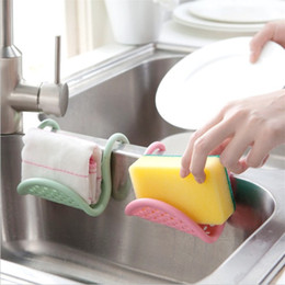 $enCountryForm.capitalKeyWord NZ - Creative Foldable Sink Rack Sponge Soap Holder Rack Draining Hook For Kitchen Bathroom