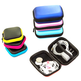 digital organizer pouch UK - Travel Earphone Carry Storage Case Bag Earbud Headphone Organizer Digital Portable Zip Pouch Charger Data Cable USB Box Bags