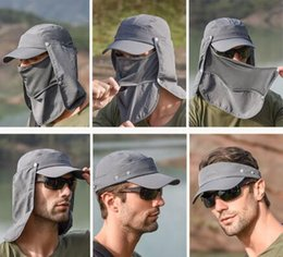$enCountryForm.capitalKeyWord Australia - Outdoor Sport Hiking Visor Breathable Hat UV Protection Face Neck Cover Fishing Sun Protect Cap Flap Hat Wide Brim Buckle