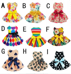 $enCountryForm.capitalKeyWord Australia - Cute Flowers Ribbon Dog Dress Dog Clothes Cozy Sleeveless Pet Dress Sundress Princess Party Small Dog Skirt Outfit