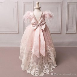 Wedding Dress Cake Images Australia - Tier Ruffles Girls Pageant Dresses Ball Gowns Kids Cup Cake Dresses Jewel Neck Appliques with Hand Made Flowers Kids Formal Party Gowns