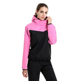 Pink Clothing Women UK - 2018 New Women Sweating Clothes Ladies Fashion Running Sweat Suits Weight Loss Slimming Yoga Sports Two-piece Suit