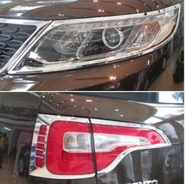 Headlight Cover Trim Australia - chrome ABS For Kia Sorento XM 2010- 2014 front headlight head lights lamp cover trims tail lights Car styling Exterior Accessories
