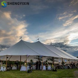 two door tents UK - Hot sale wedding tents event tents with aluminum alloy aluminum frame outdoor white tents support customiztion PVC fabric