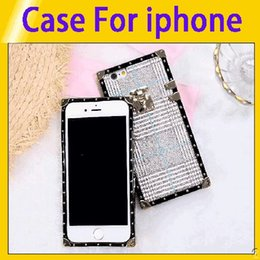 $enCountryForm.capitalKeyWord NZ - Fashion Luxury Square Cases For iphone 6 6s 7 8 Plus Novel Retro Pattern Phone Shell For iphone X XR XS Max retail6