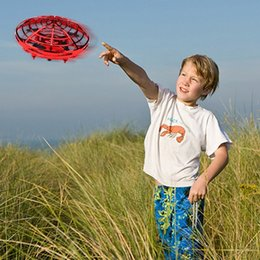 camera mini motor UK - MINI RC Drone with Sensors 2.4G 4CH Quadcopter Gyro Fly Ball Smart No remote control Shatterproof Pocket UFO safe Toys for Kids