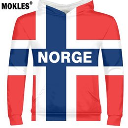 Wholesale NORWAY male youth diy free custom made name number pullover nation flag norge norwegian kingdom country print photo text clothes
