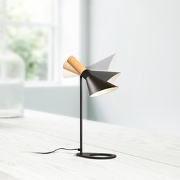 $enCountryForm.capitalKeyWord Australia - Nordic retro table lamp bedroom bedside office lighting personality creative concise eye protection bulb wood decorative I164