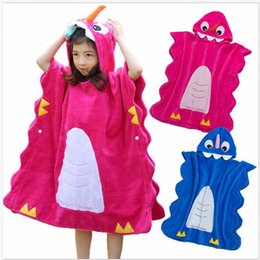 Hard-Working Cartoon Children Hooded Bathrobe Beach Towel Boys Swimming Bath Towel 90 X 90cm Bath & Shower Product