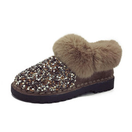 $enCountryForm.capitalKeyWord Australia - 2019 winter new women plus velvet thick snow boots warm thick casual sequins hairy lazy shoes cotton shoes bread shoes