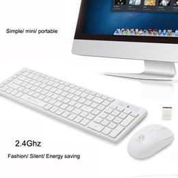 usb optical mouse laptop Canada - 2.4G Optical Wireless Keyboard and Mouse Mice USB Receiver Combo Kit for for Windows Laptop PC Notebook