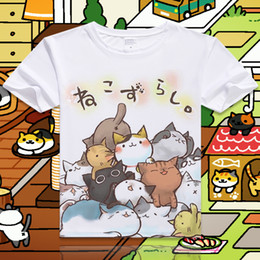 cat t shirts for women Australia - New Game Neko Atsume Cartoon Cat Cotton T shirt Short Sleeve O-Neck T-shirt for Women Student Summer Clothes Top Tees S-4XL