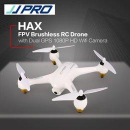 quadcopter gps fpv 2019 - JJPRO X3 HAX 2.4G Dual GPS Positioning 1080P HD Wifi Camera FPV Drone Brushless RC Drone Quadcopter One Key Return cheap