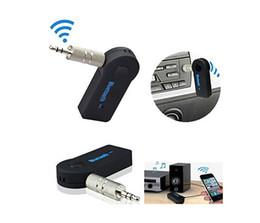 New Bluetooth AUX Car Audio Receiver Transmitter Bluetooth 3.5mm Handsfree Auto Car Adaptador Bluetooth música Kit em Promoção