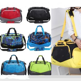 NyloN sport tote bag online shopping - U A Travelling Bags Large Capacity Luggage Bag Sports Hand Bag Tote Women Men Nylon Waterproof Excerise Training GYM Duffle Bag B71301