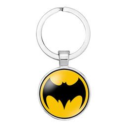 $enCountryForm.capitalKeyWord Australia - Pendant Keychain Key Ring Marvel Hero Keychain Europe and America Movies Captain America Spiderman Key Ring Pendant Accessories