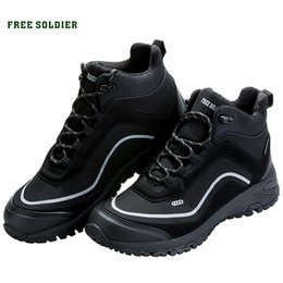 Camp Shoes For Men Australia - FREE SOLDIER outdoor sports tactical military shoes men wear-resisting non-slip for camping hiking #4402