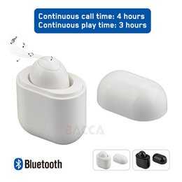 Small red roSeS online shopping - S9 Single Mini Small Stereo Earbuds Wireless Bluetooth Earphone Headset Headphone with Charging Box for IOS Android Phone